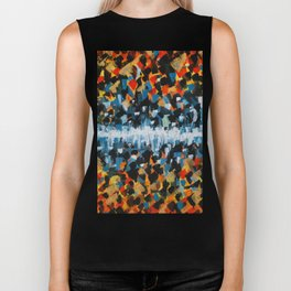 Fire and Ice Abstract Painting- Warm and Cool Colors Biker Tank