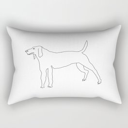Beagle (Black) Rectangular Pillow