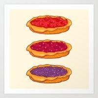 Berry Pies Art Print