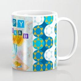 happy hanukkah collage Coffee Mug