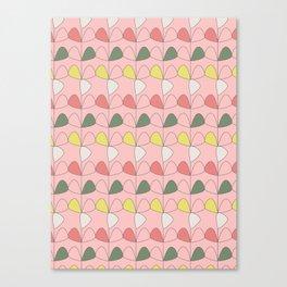 Vintage Leaves pink Canvas Print