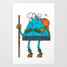 Mr. Mountain Man Art Print
