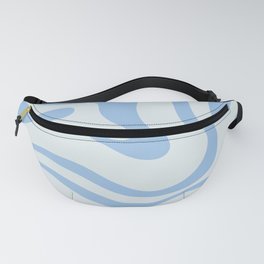 Soft Liquid Swirl Abstract Pattern Square in Powder Blue Fanny Pack