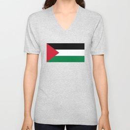 Flag of Palestine Unisex V-Neck