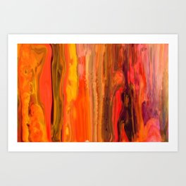 Abstract -Straighten Up and Fly Right Art Print