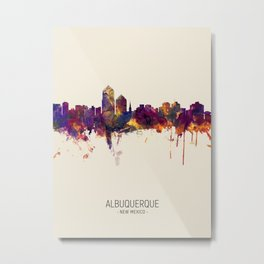 Albuquerque New Mexico Skyline Metal Print