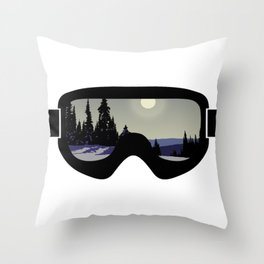 Morning Goggles Throw Pillow
