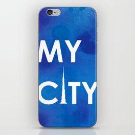 MyCity-Dubai-BlueA iPhone Skin