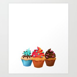 Cupcake Whisperer Bakery Chef Pastry Funny T-Shirt Art Print