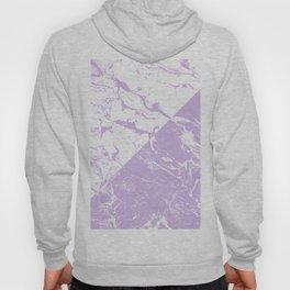 modern color block inverted white purple lavender marble pattern Hoody