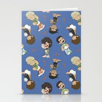 1d Stationery Cards featuring Sleepy 1D by Ashley R. Guillory