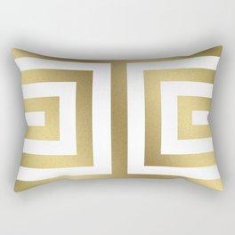 Gold Greek Stripes Rectangular Pillow