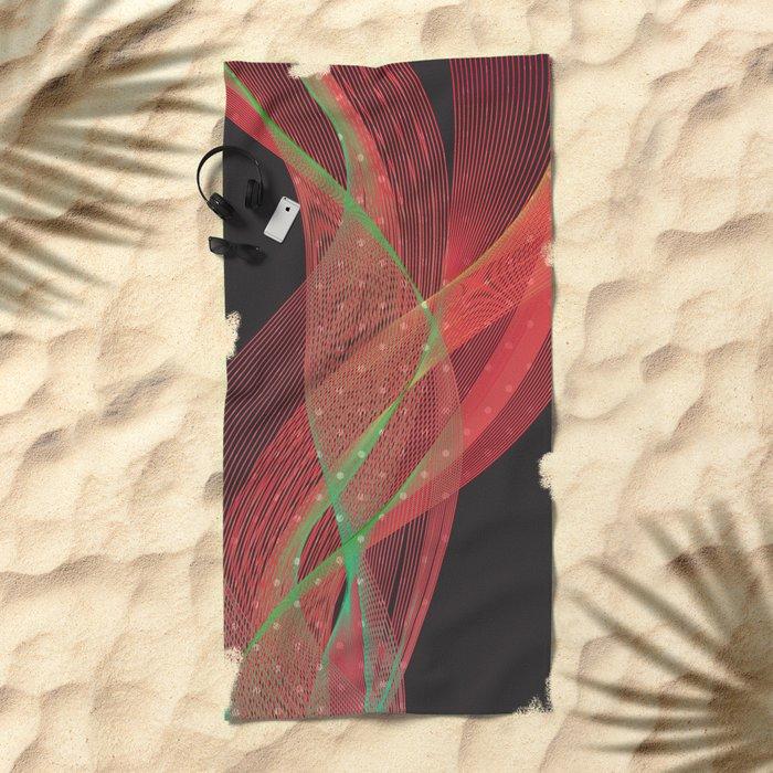 Smokey Charme Beach Towel