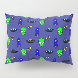 Space Oddity in Blue Pillow Sham