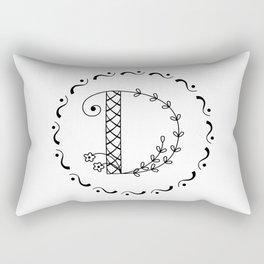D - botanical monogram. Rectangular Pillow