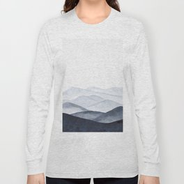 Watercolor Mountains Long Sleeve T-shirt