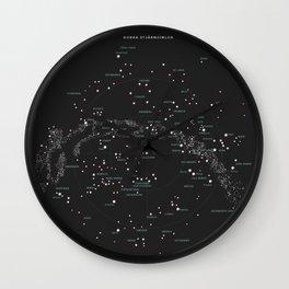 Norra Stjärnhimlen Wall Clock