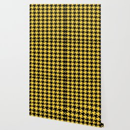 Yellow Houndstooth Wallpaper