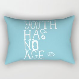 Youth Has No Age (Blue) Rectangular Pillow
