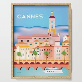Cannes, France- Skyline Illustration by Loose Petals Serving Tray