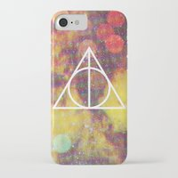 deathly hallows iPhone & iPod Cases featuring Deathly Hallows by Michal