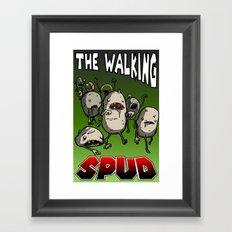 The Walking Spud Framed Art Print