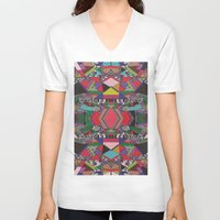 african V-neck T-shirts featuring AFRICAN MOTIF  by Vasare Nar