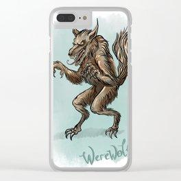 Werewolf illustration Clear iPhone Case