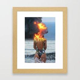 Offshore Blowout Framed Art Print