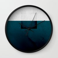 abyss Wall Clocks featuring Abyss by SUBLIMENATION