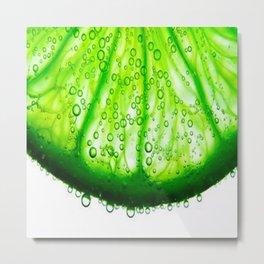 Freezy Lime Metal Print