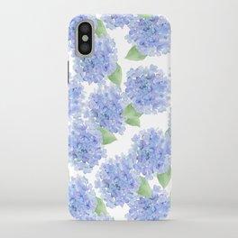 Elegant lavender lilac watercolor hydrangea floral iPhone Case