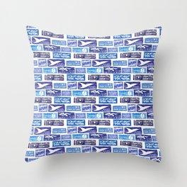 Air Mail / Par Avion Throw Pillow