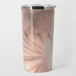 Pink Dandelion Macro Nature Photography Art and Apparel Travel Mug