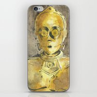 c3po iPhone & iPod Skins featuring C3PO by Johannes Vick