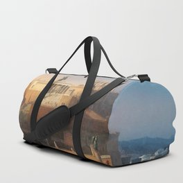 The Acropolis of Athens, Greece by Leo von Klenze Duffle Bag