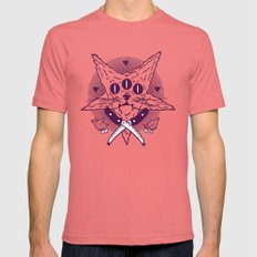 Hell Kitten SMALL Mens Fitted Tee Pomegranate
