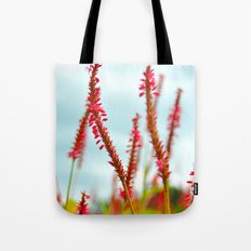 Vibrant Pink Wild Flowers Tote Bag
