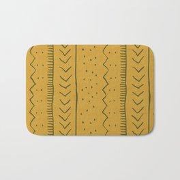 Moroccan Stripe in Mustard Yellow Badematte