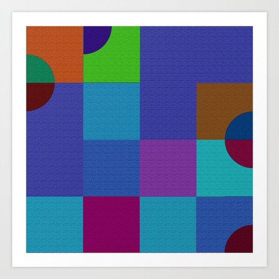 b 1 1 1 - b 3 3 3 Art Print