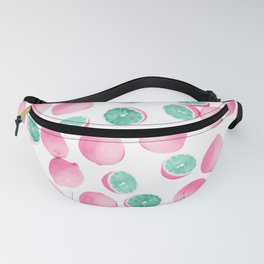 Citrus Lemons in Pink and Teal Fanny Pack