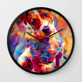 Jack Russell Terrier 3 Wall Clock