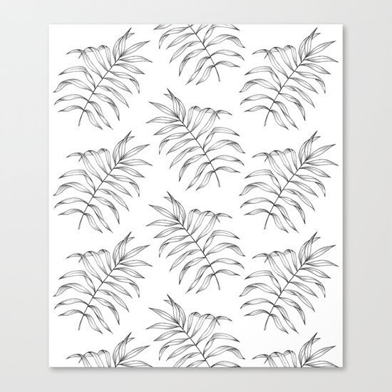 Palm Leaves Pattern Canvas Print