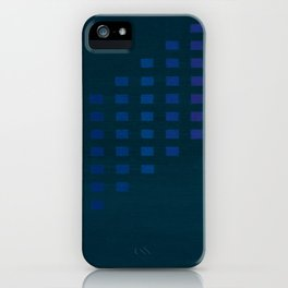 Green with squares iPhone Case
