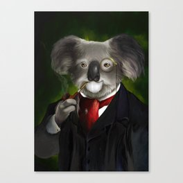 Gentleman Koala Canvas Print