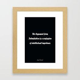 Ayn Rand Framed Art Print