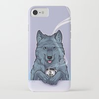 daunt iPhone & iPod Cases featuring Tea Wolf by Daunt