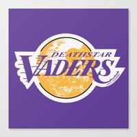lakers Canvas Prints featuring L.A. Vaders by Ant Atomic