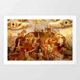 Brunelleschi Cupola in Florence Art Print