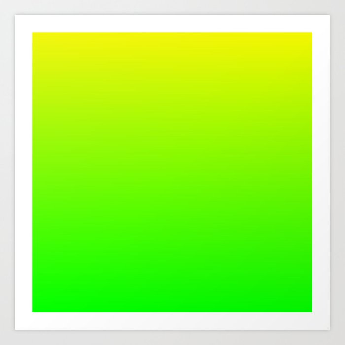 neon yellow green ombre art print by lyle58 society6